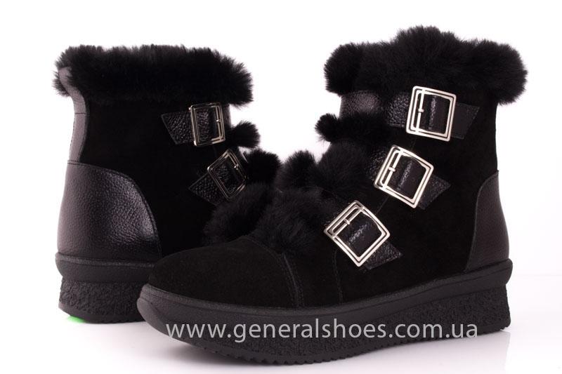 Зимние ботинки женские D 15 221 черный фото 8