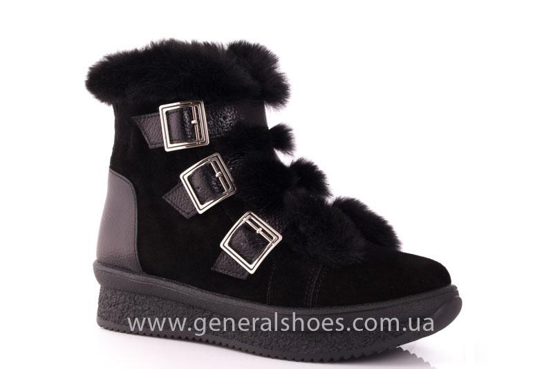Зимние ботинки женские D 15 221 черный фото 1