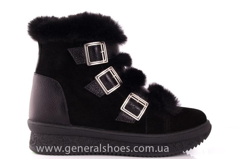 Зимние ботинки женские D 15 221 черный фото 2
