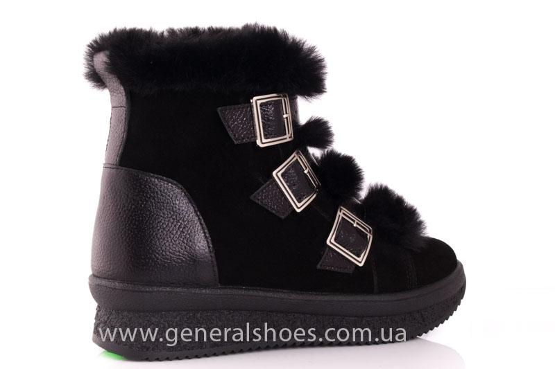 Зимние ботинки женские D 15 221 черный фото 3