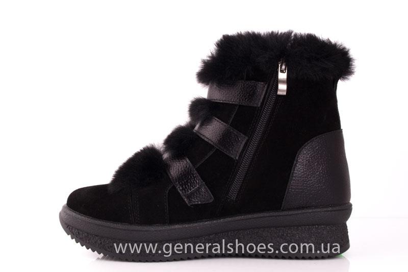Зимние ботинки женские D 15 221 черный фото 5