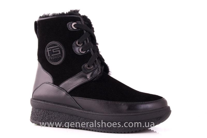 Зимние ботинки женские D 152 11K черный фото 1
