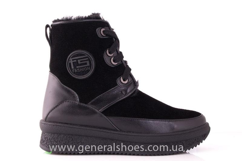 Зимние ботинки женские D 152 11K черный фото 2