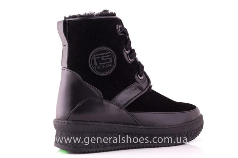 Зимние ботинки женские D 152 11K черный фото 3