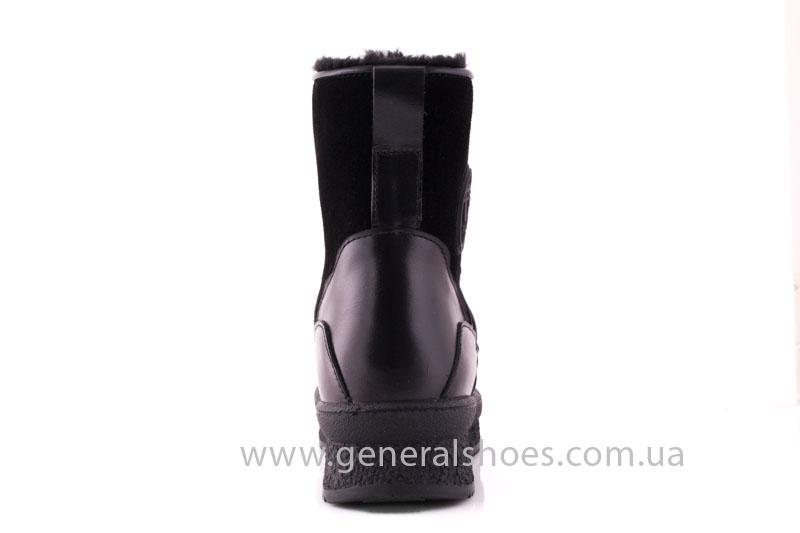 Зимние ботинки женские D 152 11K черный фото 4