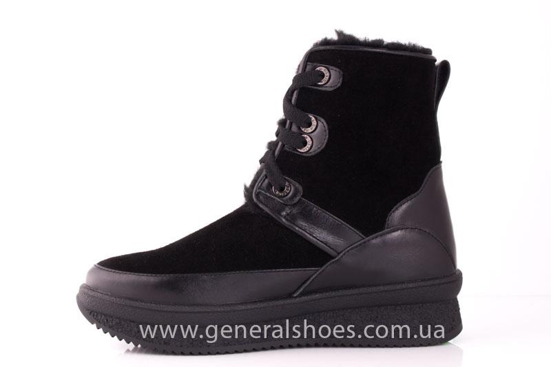 Зимние ботинки женские D 152 11K черный фото 5