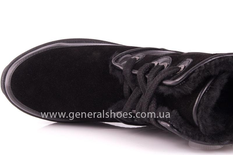 Зимние ботинки женские D 152 11K черный фото 6