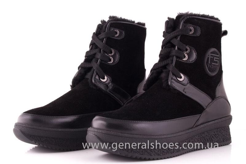 Зимние ботинки женские D 152 11K черный фото 7