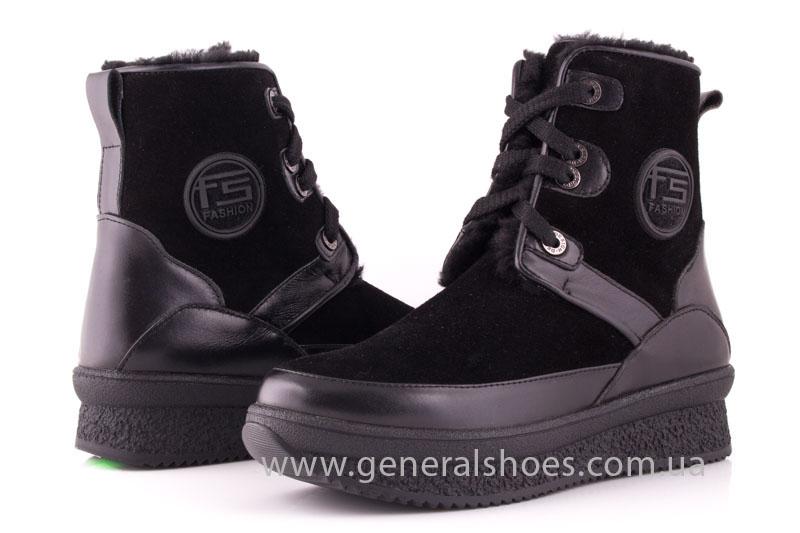 Зимние ботинки женские D 152 11K черный фото 8