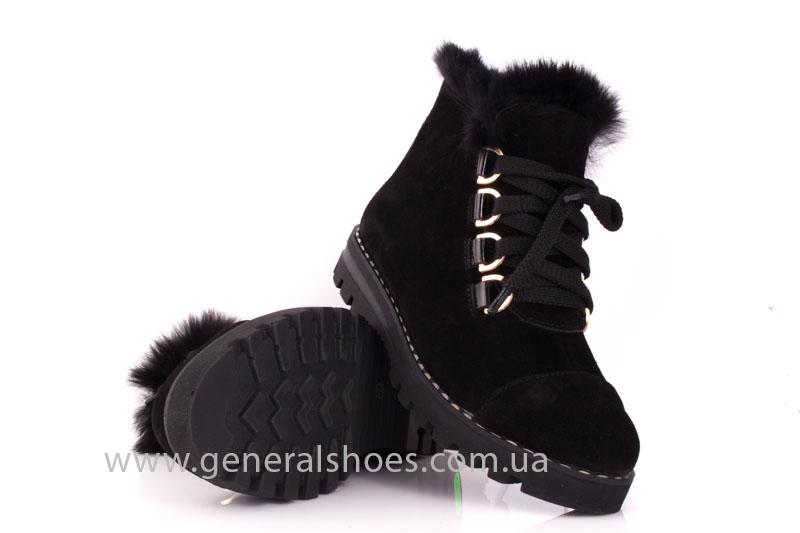 Зимние женские ботинки К 12 341 черный фото 9