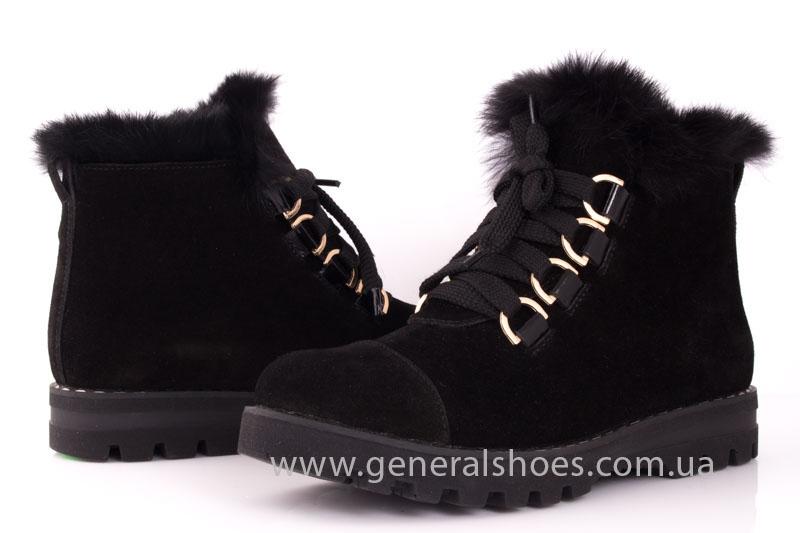 Зимние женские ботинки К 12 341 черный фото 8
