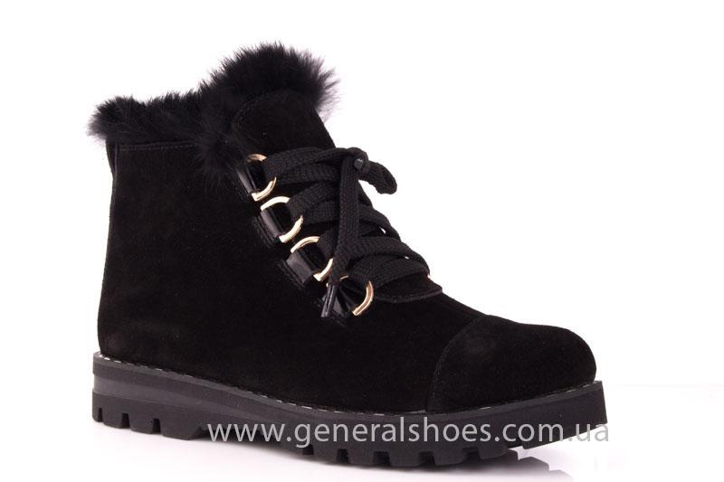 Зимние женские ботинки К 12 341 черный фото 1