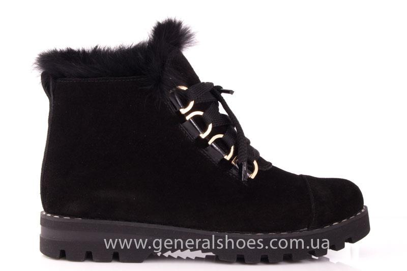 Зимние женские ботинки К 12 341 черный фото 2