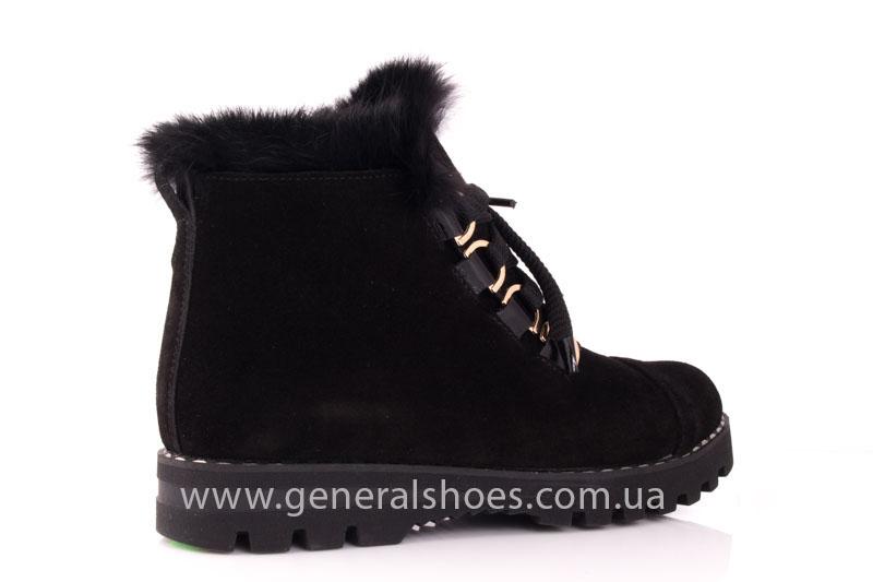 Зимние женские ботинки К 12 341 черный фото 3