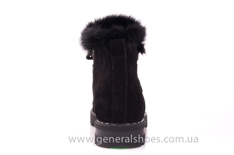 Зимние женские ботинки К 12 341 черный фото 4