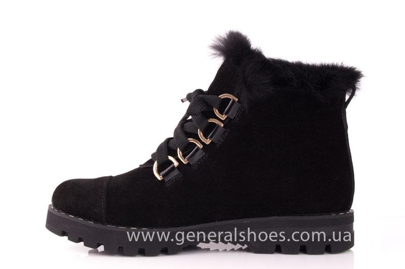 Зимние женские ботинки К 12 341 черный фото 5