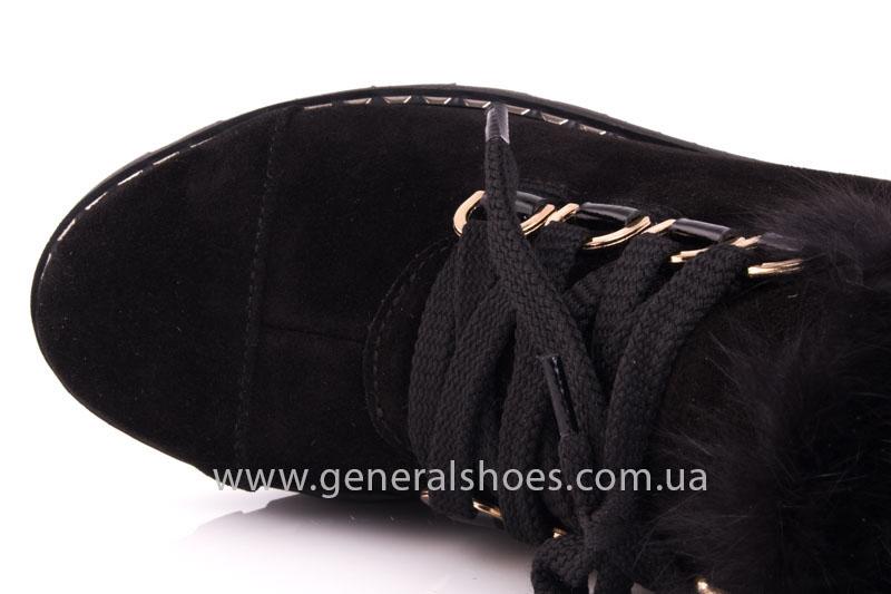 Зимние женские ботинки К 12 341 черный фото 6