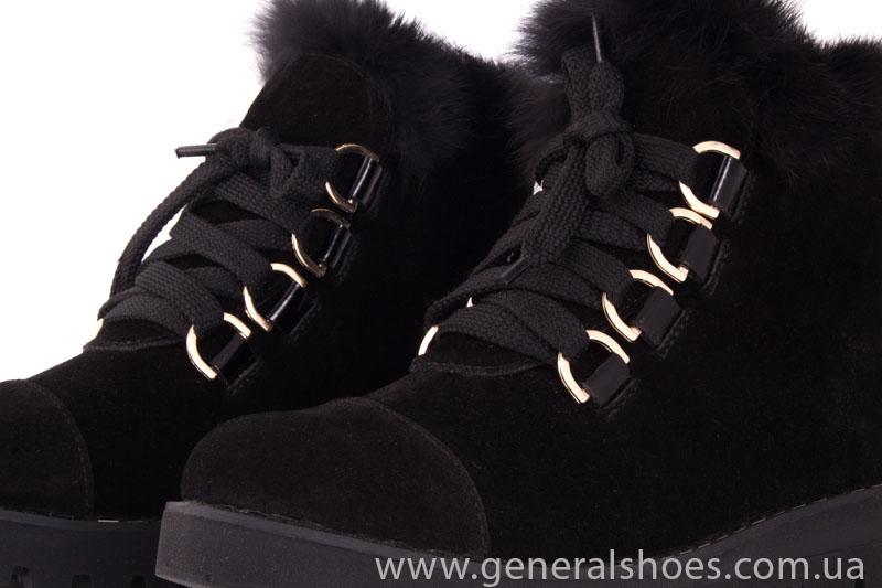 Зимние женские ботинки К 12 341 черный фото 7