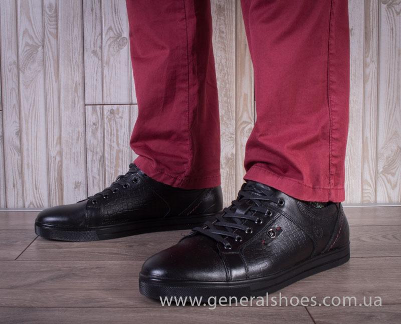 Мужские кожаные туфли Karat 18 265 черные
