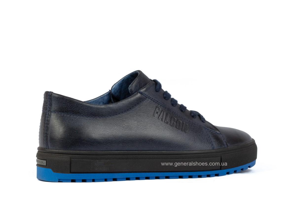 Мужские зимние кожаные полуботинки Falcon B 244 blue фото 2