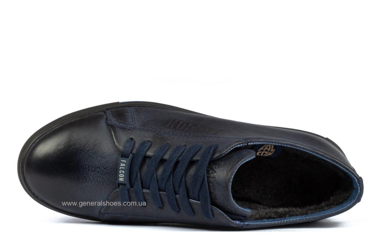 Мужские зимние кожаные полуботинки Falcon B 244 blue фото 4