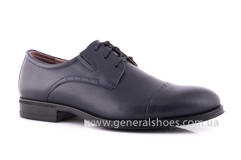 Туфли мужские кожаные Vlad XL 748 7007 46 темно синие фото 1