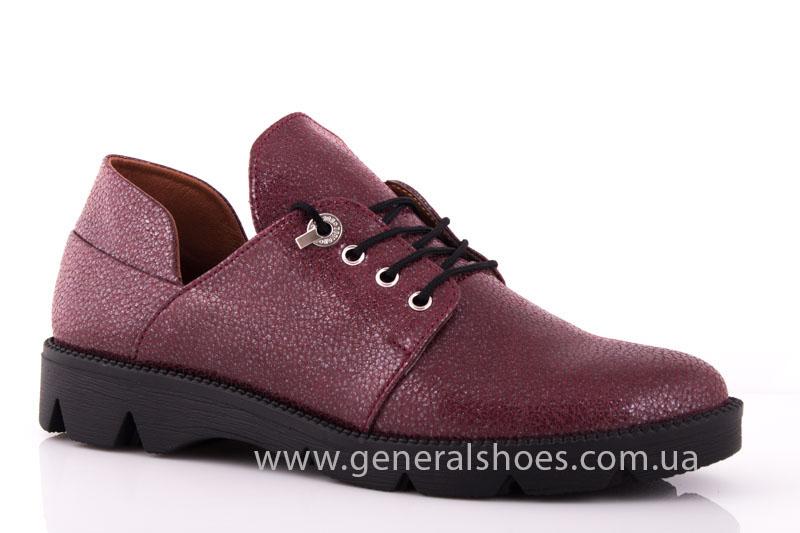 Туфли женские кожаные F 6102 4 бордо блеск фото 1