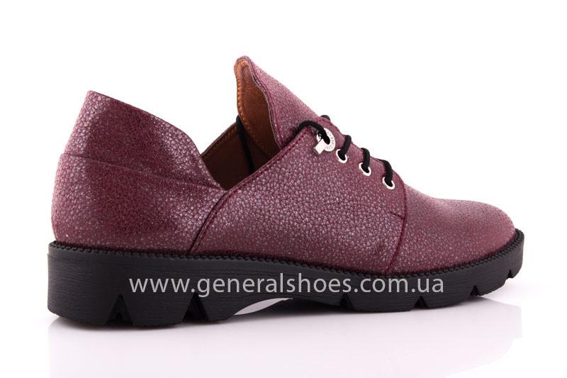 Туфли женские кожаные F 6102 4 бордо блеск фото 2