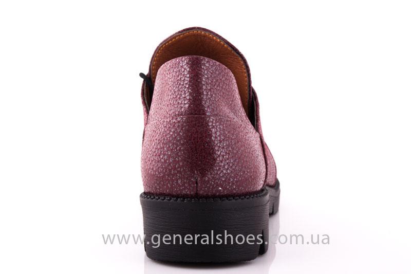 Туфли женские кожаные F 6102 4 бордо блеск фото 3