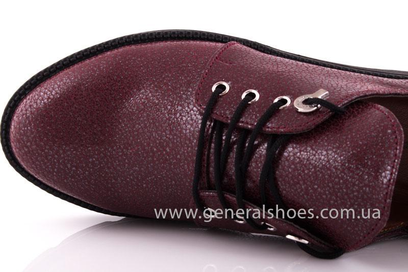 Туфли женские кожаные F 6102 4 бордо блеск фото 6