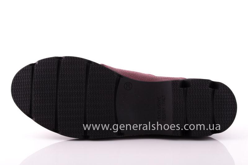 Туфли женские кожаные F 6102 4 бордо блеск фото 7