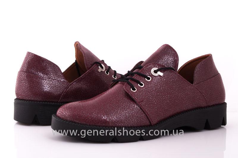 Туфли женские кожаные F 6102 4 бордо блеск фото 9