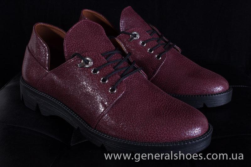 Туфли женские кожаные F 6102 4 бордо блеск фото 10