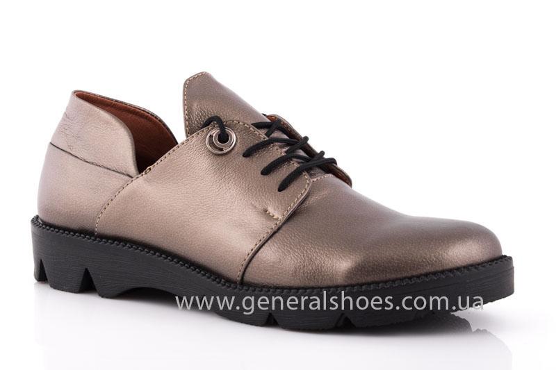 Туфли женские кожаные F 6102 бронза блеск фото 1
