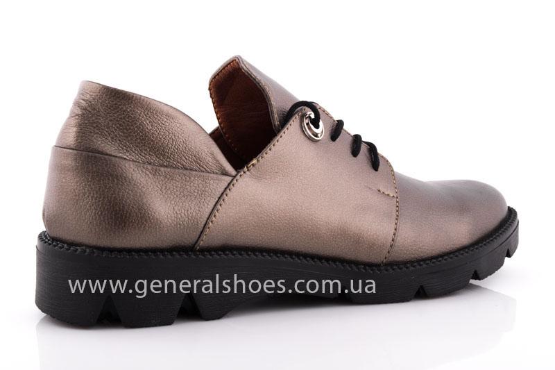 Туфли женские кожаные F 6102 бронза блеск фото 3