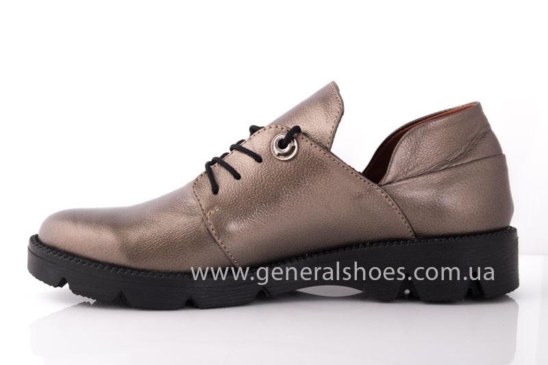 Туфли женские кожаные F 6102 бронза блеск фото 4