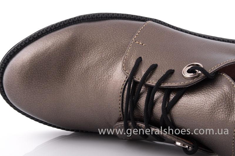 Туфли женские кожаные F 6102 бронза блеск фото 5