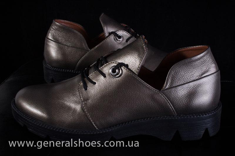 Туфли женские кожаные F 6102 бронза блеск фото 8
