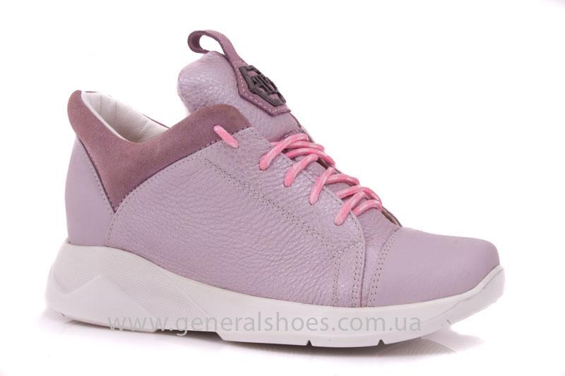 Женские кроссовки кожаные S 12 розовые фото 1