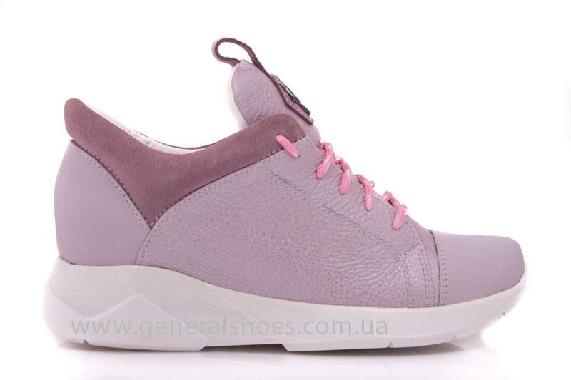 Женские кроссовки кожаные S 12 розовые фото 2