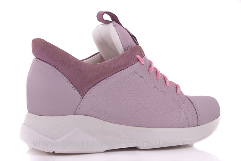 Женские кроссовки кожаные S 12 розовые фото 3