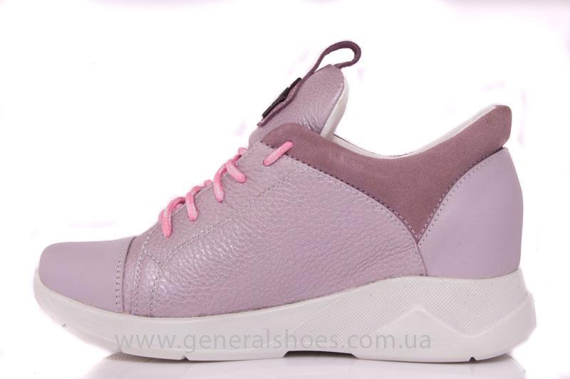 Женские кроссовки кожаные S 12 розовые фото 4