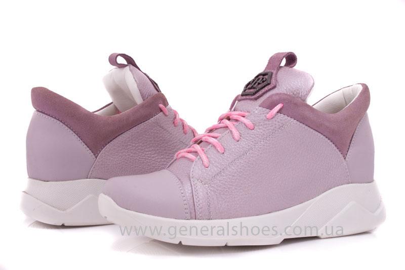 Женские кроссовки кожаные S 12 розовые фото 6