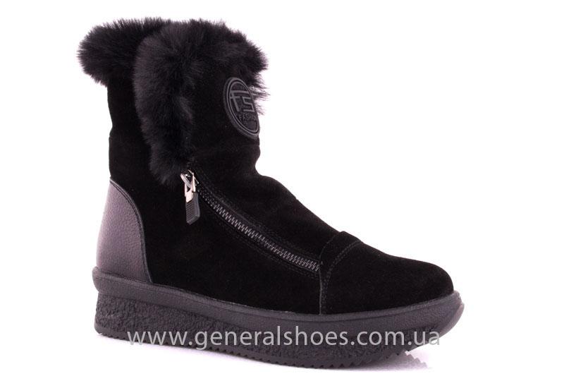 Женские зимние ботинки D 15231 черные фото 1