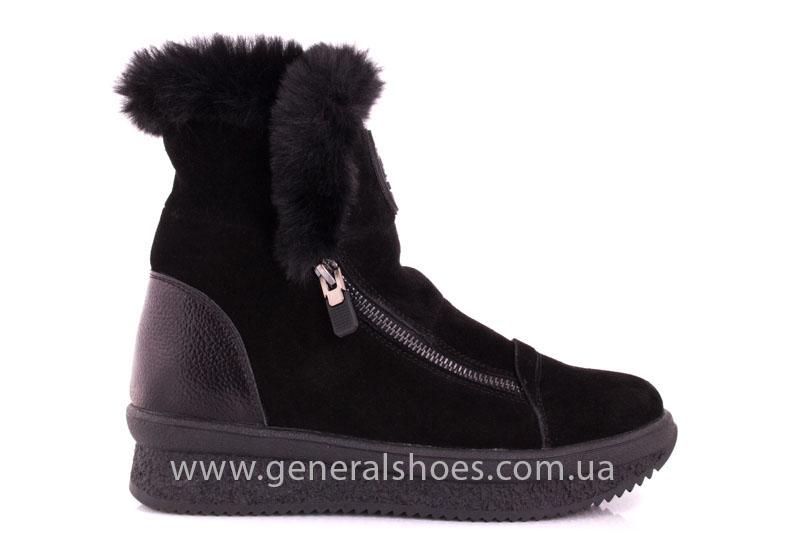 Женские зимние ботинки D 15231 черные фото 2