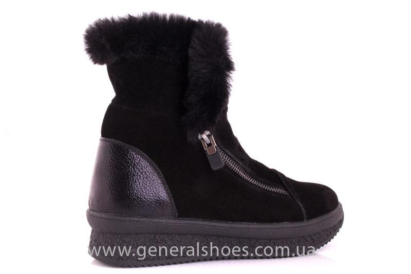 Женские зимние ботинки D 15231 черные фото 3