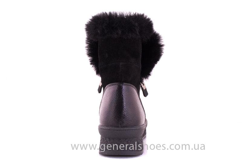 Женские зимние ботинки D 15231 черные фото 4
