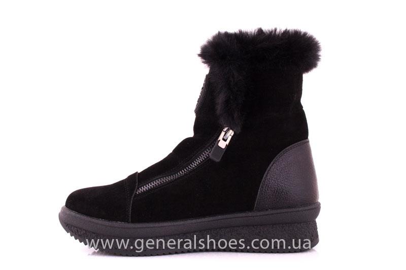 Женские зимние ботинки D 15231 черные фото 5