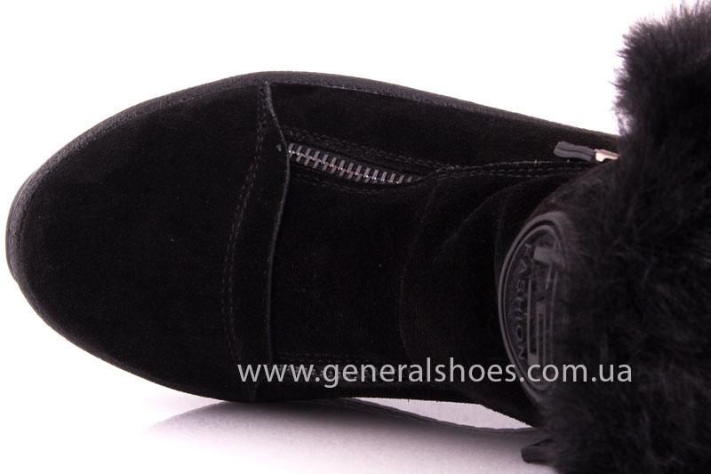 Женские зимние ботинки D 15231 черные фото 6