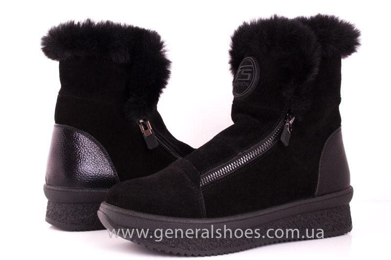 Женские зимние ботинки D 15231 черные фото 7